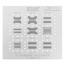 Трафарет MAC 3 Apple MacBook SSD и DDR BGA108 BGA136 BGA128 BGA96 BGA132 BGA60 BGA178 BGA170 BGA180