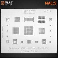 Трафарет MAC 5 Apple MacBook Pro A1706 A1707