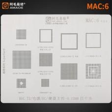 Трафарет MAC 6  Apple MacBook A1534 A1706 A1707 A1989 A1990 A2159 T2 SMC EC