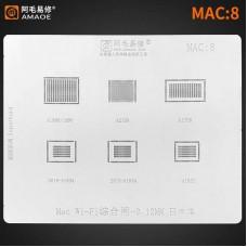 Трафарет MAC 8 Apple WIFI A1534 A1932 A1706 A1989 A1990 A2159