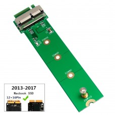 Адаптер PCIe SSD Apple Macbook A1465 A1466 A1398 A1502 2013-2017 12+16pin to M.2 NVME key M adapter
