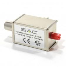 Аттенюатор переменный регулируемый 1-20дБ 5-1000МГц 75Ом