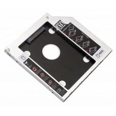 "Адаптер переходник Optibay для установки SATA HDD SSD 2.5"" 9.0 мм вместо CDROM DVDROM"