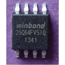 Winbond W25Q64FVSSIQ W25Q64FVSIQ Quad SPI SOIC8 64Mbit 8Mb