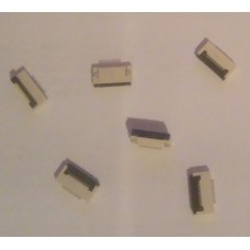 Разъем для плоского шлейфа 12 пин шаг 0.5 мм контакты снизу (ELPC Debug)