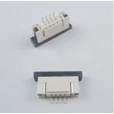 Разъем для плоского шлейфа 4 пин шаг 1 мм контакты снизу