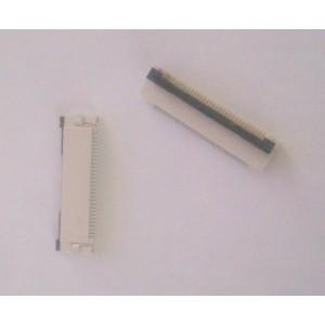 Разъем для плоского шлейфа 30 пин шаг 0.5 мм контакты снизу