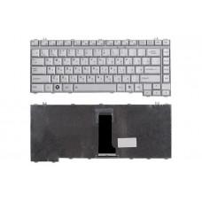 Клавиатура для ноутбука Toshiba Satellite A200 A300 L300 M200 M300 серебристая