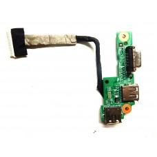 Плата USB VGA Dell Inspiron N5010 DG15 CRT BOARD 09698-1 4B.4HH03.011