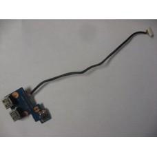 Плата USB с кнопкой включения Samsung NP300E5A NP305E5A NP305V5A NP300E7A NP300E4A NP300V5A USB BA92-09366A Scala3_15/17A_USB_sub с шлейфом