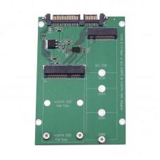 Адаптер переходник mSATA SSD + M.2 NGFF SSD в SATA